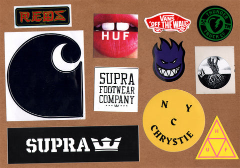 11 Skateboard Sticker Pack - Slight Creasing / Minor Defects