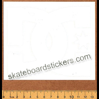DC Shoe Co. Skateboard Sticker / Rub On Decal - White