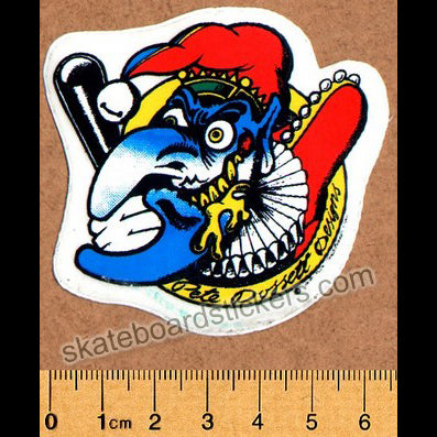 Deathbox Old School Skateboard Sticker - Dossett Mr Punch Small