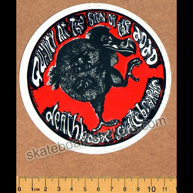 Deathbox Old School Skateboard Sticker - Dodos Regular
