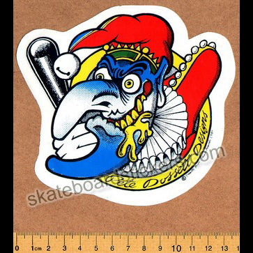 Deathbox Old School Skateboard Sticker - Dossett Mr Punch Regular