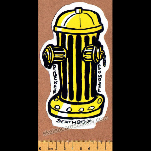 Deathbox Old School Skateboard Sticker - Rocker Fire Hydrant Large