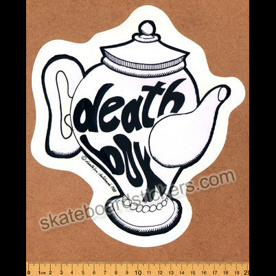 Deathbox Old School Skateboard Sticker - Pink Teapot Large