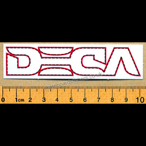 Deca Skateboard Sticker - SkateboardStickers.com