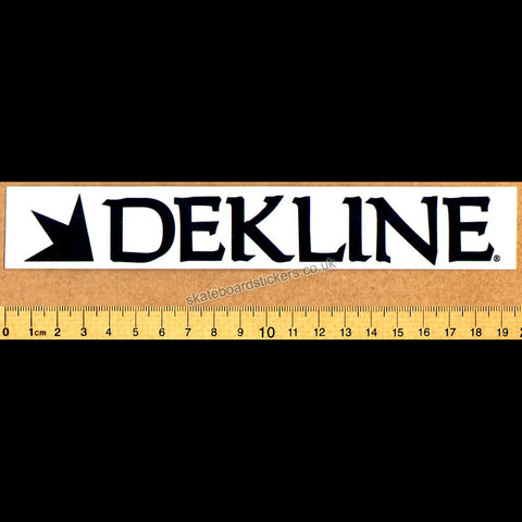 Dekline Skateboard Sticker - SkateboardStickers.com