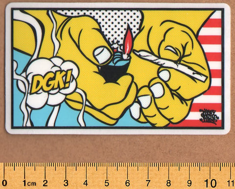 DGK / Dirty Ghetto Kids Skateboard Sticker - Light It Up