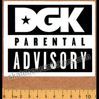 DGK / Dirty Ghetto Kids Parental Advisory Skateboard Sticker