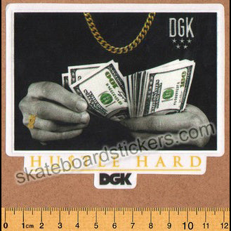 DGK / Dirty Ghetto Kids Skateboard Sticker - Hustle Hard