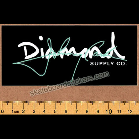 Diamond Supply Co. x Johnny Cash - Cash Script Black Skateboard Sticker