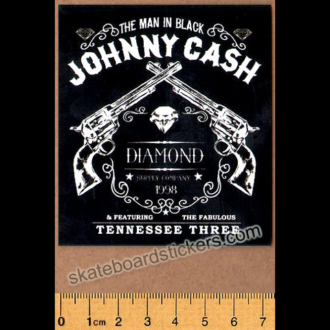Diamond Supply Co. x Johnny Cash - Tennessee Three Skateboard Sticker