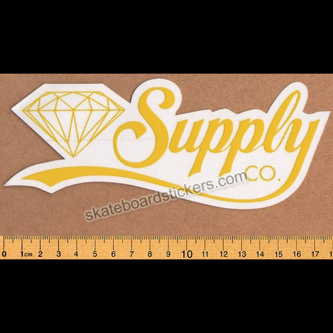 Diamond Supply Co. Script Skateboard Sticker
