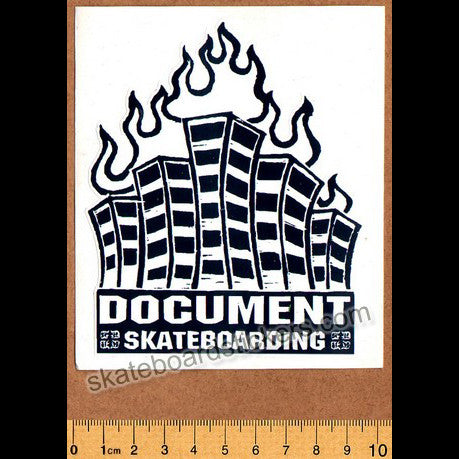 Document Magazine Old School Skateboard Sticker