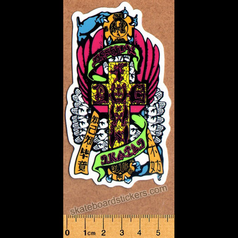 Dogtown Skateboard Sticker - Eric Dressen Hands