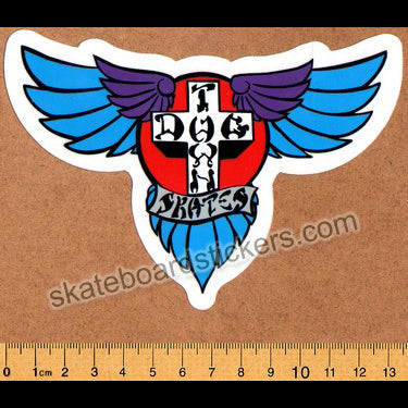 Dogtown Skateboard Sticker - Blue Wings