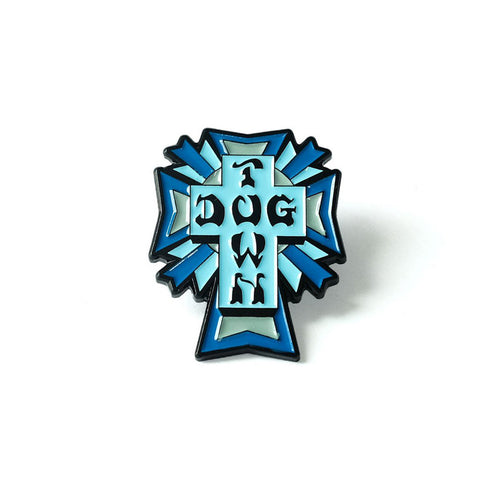 Dogtown Enamel Pin Cross Logo Color - SkateboardStickers.com  - 1