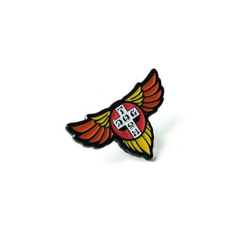 Dogtown Enamel Pin Wings - SkateboardStickers.com  - 1