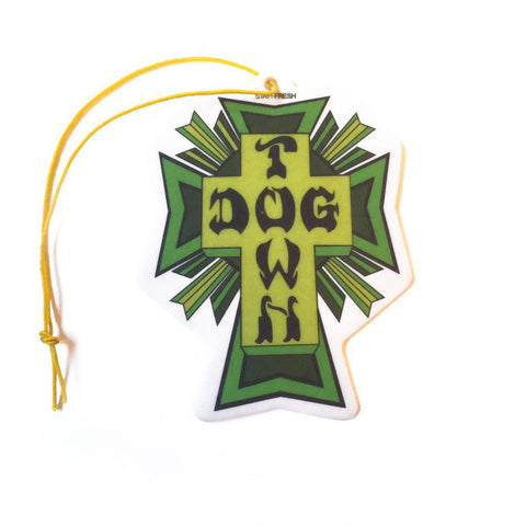 Dogtown Skateboards Air Freshener Cross Logo Green (Cherry Scent) - SkateboardStickers.com  - 1