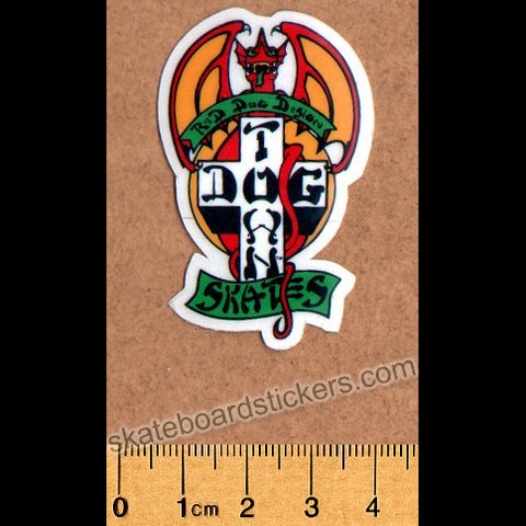 Dogtown Skateboard Sticker - Red Dog Small