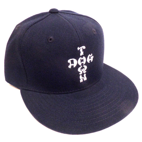 Dogtown Hat Snapback Cap Cross Letters Embroidered Navy - SkateboardStickers.com