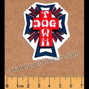 Dogtown Skateboard Sticker - USA Cross Small