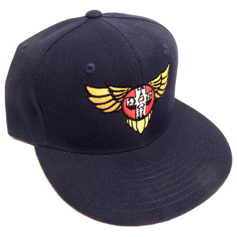Dogtown Hat Snapback Cap Wings Embroidered Navy - SkateboardStickers.com