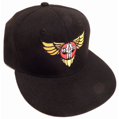 Dogtown Hat Snapback Cap Wings Embroidered Black - SkateboardStickers.com