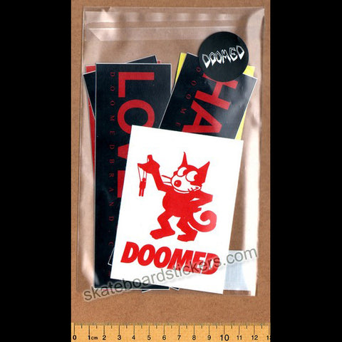 Doomed Assorted BMX Sticker Pack - 6 Stickers