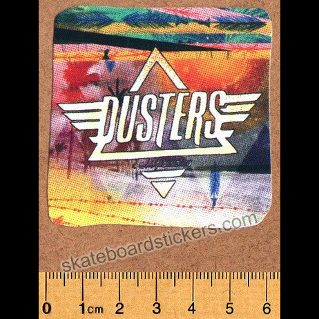 Dusters Longboard / Cruiser Skateboard Sticker - SkateboardStickers.com