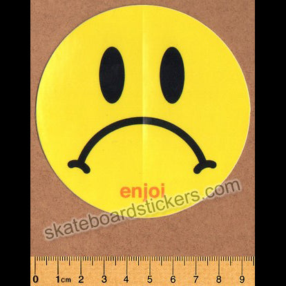 Enjoi Sad Smiley Skateboard Sticker