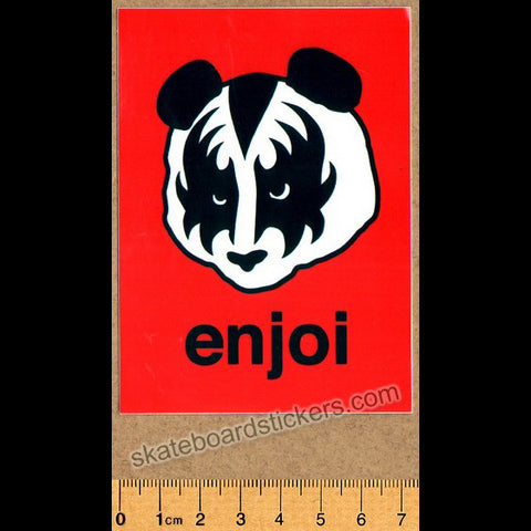 Enjoi KISS Skateboard Sticker - Red