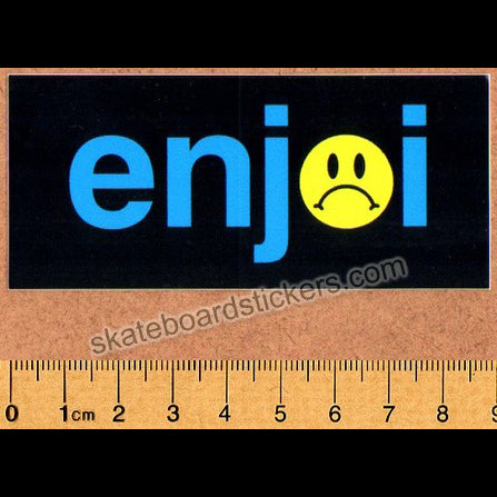Enjoi Frowny Face Skateboard Sticker