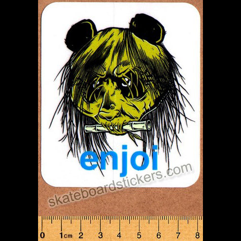 Enjoi 80's Head Skateboard Sticker (Zorlac / Pushead Tribute)