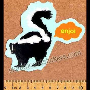 Enjoi Skunk Fart Skateboard Sticker