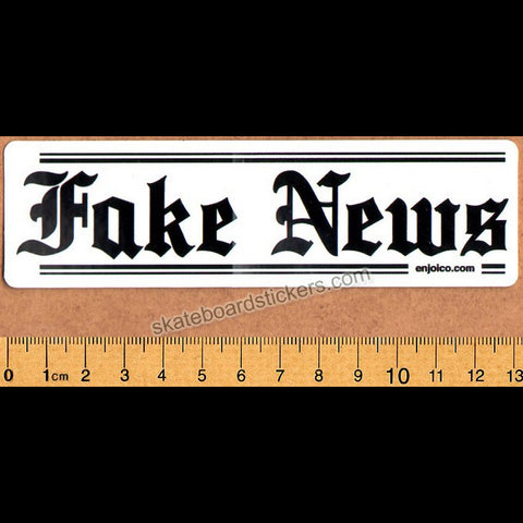 Enjoi Fake News Skateboard Sticker