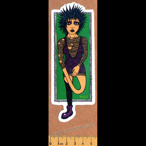 Enjoi - Goth Girl Skateboard Sticker