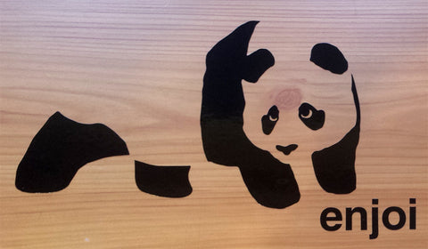 Enjoi Panda Skateboard Sticker / Rub On Decal