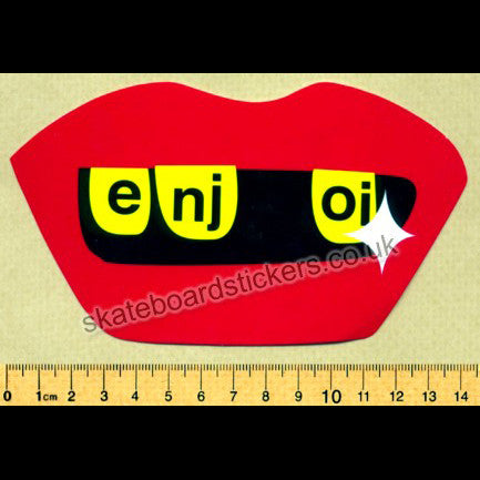 Enjoi Skateboards Bling Teeth Skateboard Sticker - SkateboardStickers.com