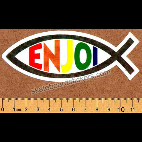 Enjoi Fish Skateboard Sticker - SkateboardStickers.com