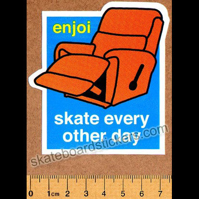 Enjoi Skate Every Other Day Skateboard Sticker - SkateboardStickers.com