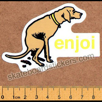 Enjoi Dog Pooper Skateboard Sticker