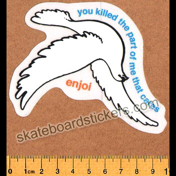 Enjoi Dove Skateboard Sticker