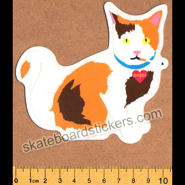 Enjoi Cat Skateboard Sticker