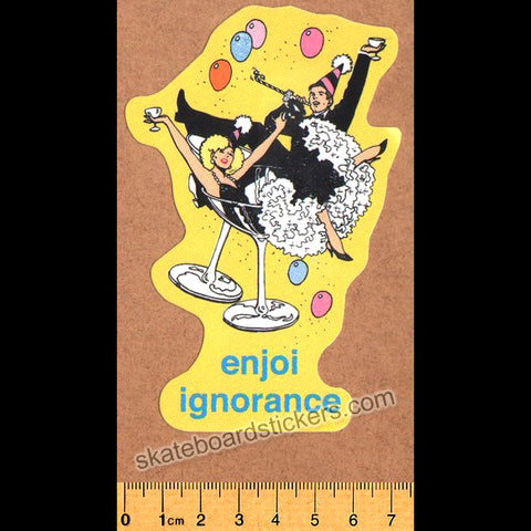 Enjoi Ignorance Skateboard Sticker