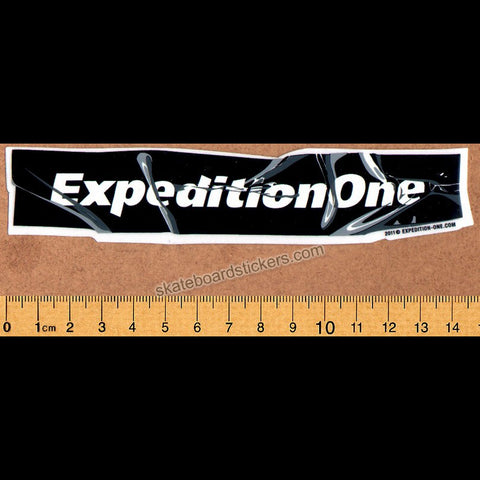 Expedition One Skateboard Sticker - black