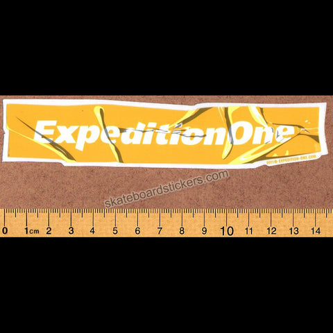 Expedition One Skateboard Sticker - yellow