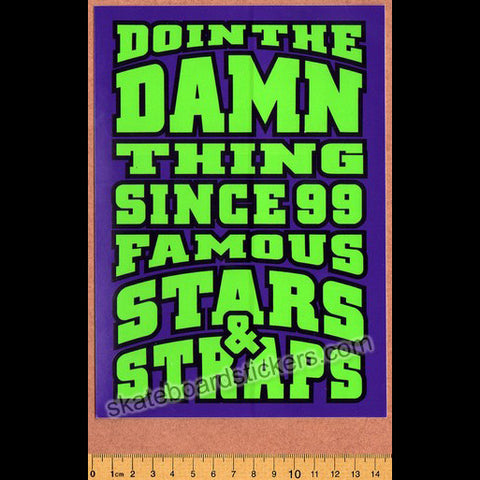 Famous Stars and Straps Skateboard Sticker