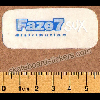 Faze 7 Sux Skateboard Sticker - SkateboardStickers.com