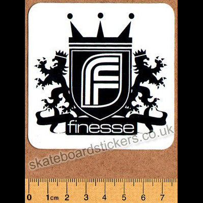 Finesse Skateboard Sticker - SkateboardStickers.com