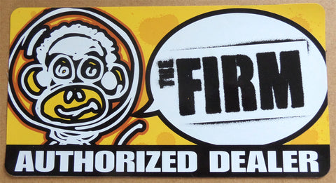 The firm authorized dealer window skateboard sticker
