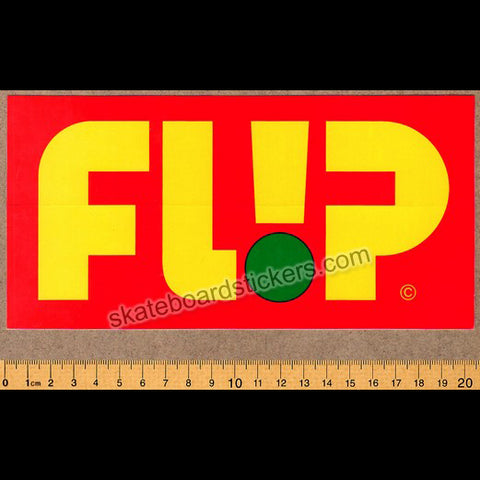 Flip Odyssey Skateboard Sticker - Big Red